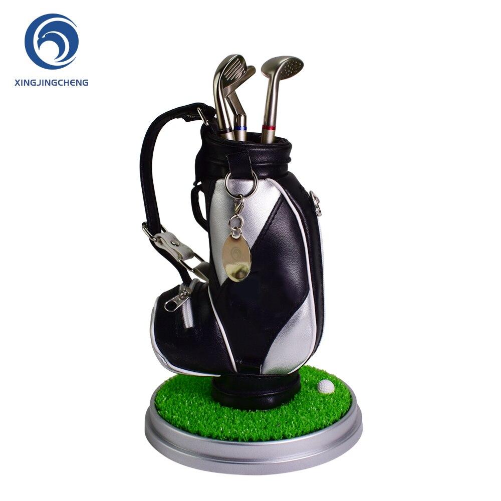 Desktop Golf Pen Holder,Leather Pencil Holder Novelty Gifts For Men Fathers,Golf Souvenirs Unique Gift For Golfer Fans Coworker