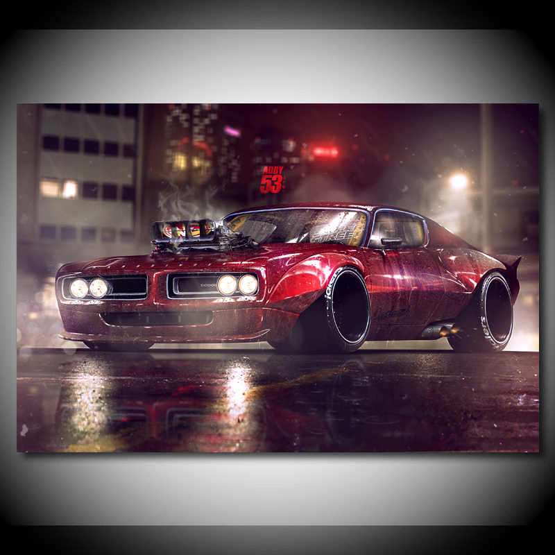 canvas paintings dodge charger tuning