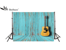 Beebuzz photo backdrop blue wooded guitar trim background luxury antique wooded