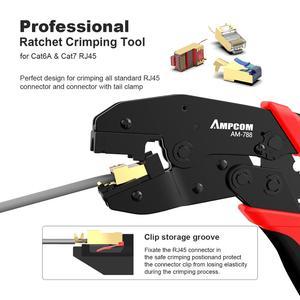 Image 5 - CAT7 Crimper Tool Crimping Plier AMPCOM Network Professional Crimper for CAT7 CAT6A STP Modular Plugs with RJ45 8P8C Connector