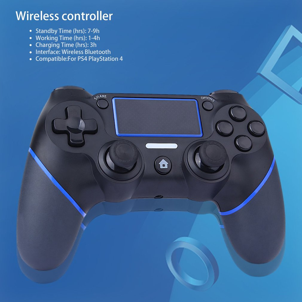 Game Controller For Playstation 4 Console PC <font><b>Laptop</b></font> Computer Play Gaming Gamepad <font><b>Joystick</b></font> Game Handle for PS4 Controller image