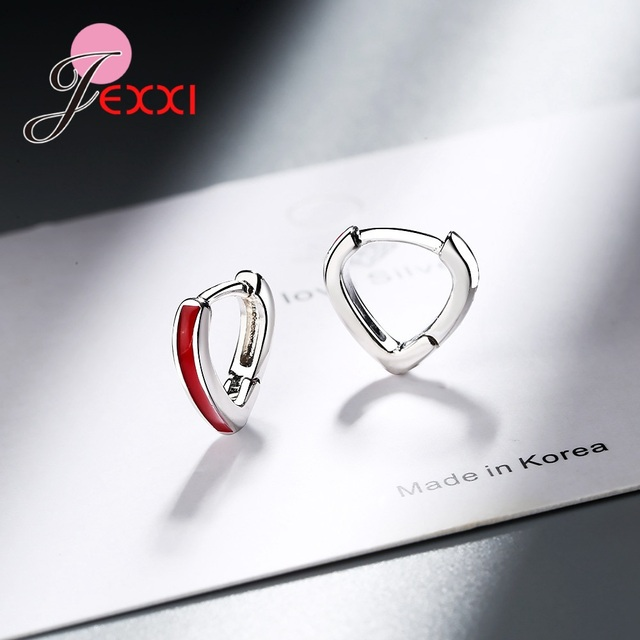 Lovely Heart Shaped Lever Back Earrings Solid 925 Sterling Silver Hoop Red Enamel Paint Wedding Engagement.jpg 640x640 - Lovely Heart Shaped Lever Back Earrings Solid 925 Sterling Silver Hoop Red Enamel Paint Wedding Engagement Accessroies Jewelry