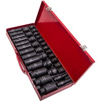 8 32mm Metric 6 Point 35pcs Lug Nut 1/2 Deep Impact Socket Set Garage Tool 20mm