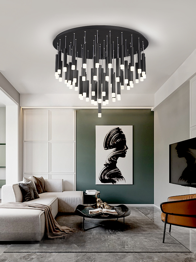 Современные светодиодные светильники для гостиной, скандинавские минималистичные дизайнерские лампы для ресторана, бара, черного цвета