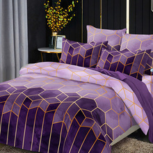 Bedding-Sets Duvet-Cover-Set Geometry Double-Queen Luxury-Style Print with Pillowcase