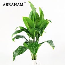 60cm 18 Fork Tropical Palm Tree Large Artificial Plant Plastic Leaves Fake Banana Tree Leaf Green Monstera For Home Garden Decor