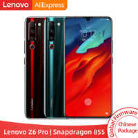 "Original rom global lenovo z6 pro snapdragon 855 octa núcleo 6.39 ""fhd display smartphone traseiro 48mp quad câmeras"
