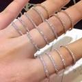 Женское кольцо с цирконием AAAAA, обручальное кольцо из стерлингового серебра 925 пробы с кубическим цирконием, вечерние ювелирные украшения д...