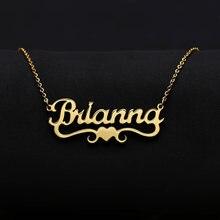 Zciti пользовательское имя ожерелье с Сердце покрытое золотом
