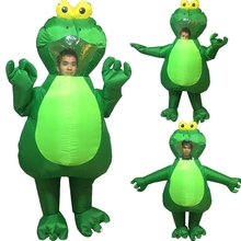 Inflatable Frog Blow-Up Costume Cosplay Halloween Adults Cloth Outfit Dress Funny Fancy