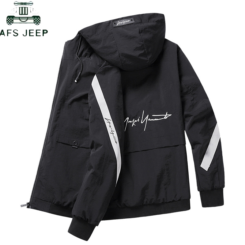 Casual Men's Jacket Spring Autumn Windproof Men's Harajuku Zipper Bomber Windbreaker Streetwear Hip Hop Slim Fit Jacket Male