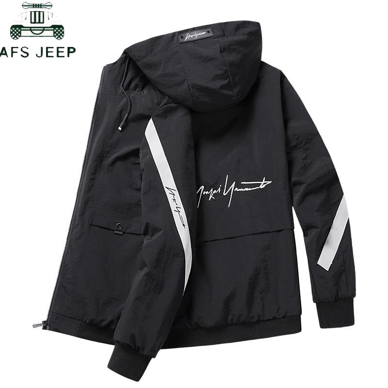 Casual Men's Jacket Spring Autumn Windproof Men's Harajuku Zipper Bomber Windbreaker Streetwear Hip Hop Slim Fit Jacket Male