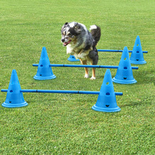 3set Dog Training Products Durable Dogs Running Jumping Stakes Pets Outdoor Sports Stake Pole Portable Pet Agility Equipment