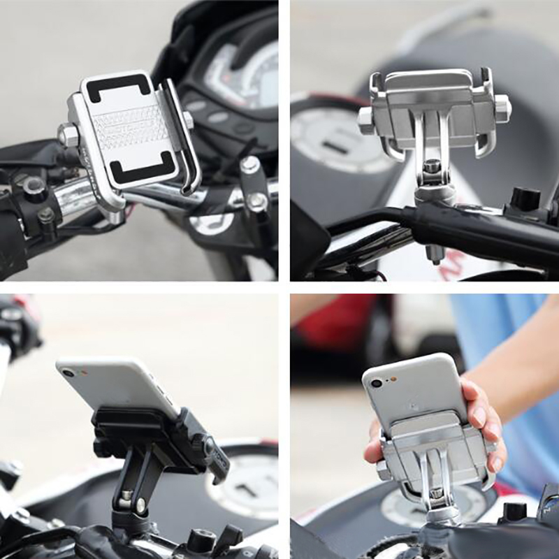 Image 3 - MOTOWOLF Universal Motor Bike Bicycle Motorcycle Cell Phone  Holder Phone Grip 360 Degrees Rotation Phone Holder Stand for  IphoneTheft Protection   -