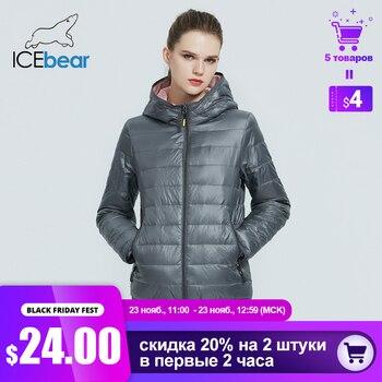 ICEbear 2020 nouvelles femmes léger doudoune élégant décontracté printemps parka marque vêtements GWY19151D 1