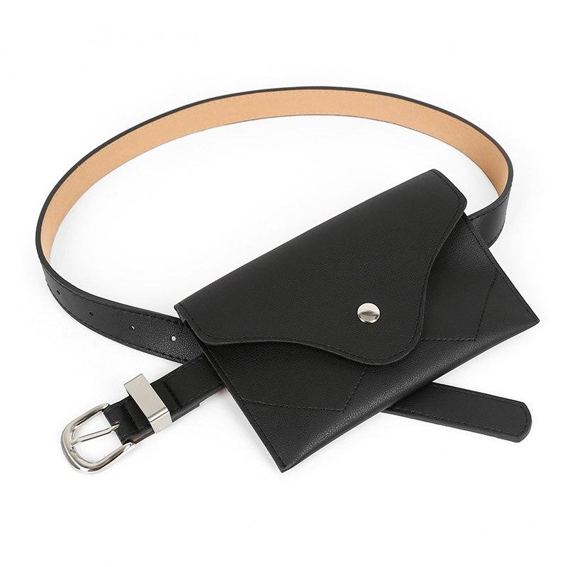 Fashion Women Belt Jeans Solid Color Shoulder Waist Bags Woman PU Leather Fanny Packs Casual Purse Wallet Chest Belt Phone Bag