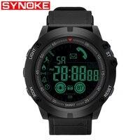 Synoke world time men sports army relógios à prova d50 água 50m relógio digital correndo natação mergulho relógio de pulso montre homme8308