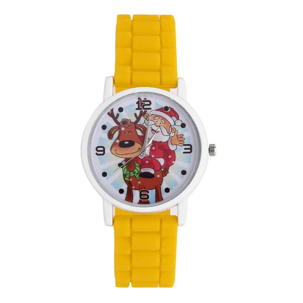 Quartz Children Watch Festival Christmas Kids Silicone Band Strap WristWatch Cute Deer Great Gift Watch Relogio Drop Shipping