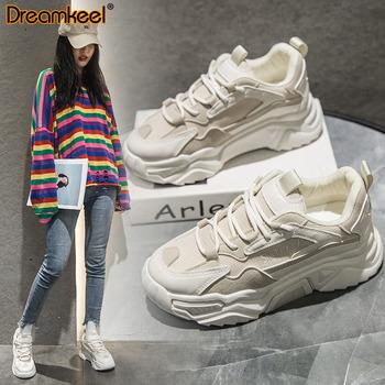 2020 wiosna nowe mody kobiet buty kobiet trampki platformy siatka powietrzna buty sportowe kobiet różowy Trendy oddychające buty kobiet Y tanie i dobre opinie dreamkeel Mesh (air mesh) CN (pochodzenie) Płytkie Patchwork Wiosna jesień Med (3 cm-5 cm) Lace-up Pasuje mniejszy niż zwykle proszę sprawdzić ten sklep jest dobór informacji
