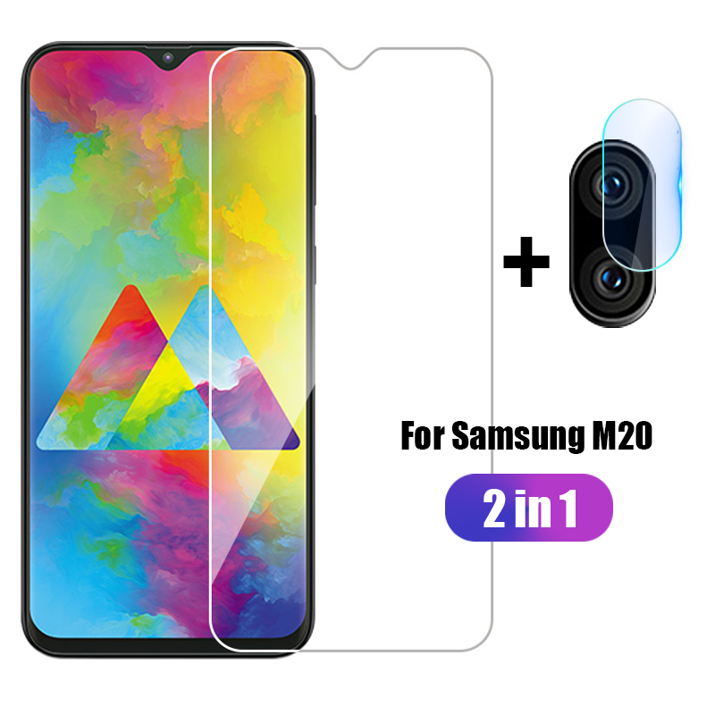 2 in 1 Front Tempered <font><b>Glass</b></font> + Camera Len Film For <font><b>Samsung</b></font> <font><b>Galaxy</b></font> M20 <font><b>M</b></font> <font><b>20</b></font> <font><b>M</b></font> Protective <font><b>Glass</b></font> For <font><b>Samsung</b></font> M20 SM-M205FN/DS <font><b>Glass</b></font> image