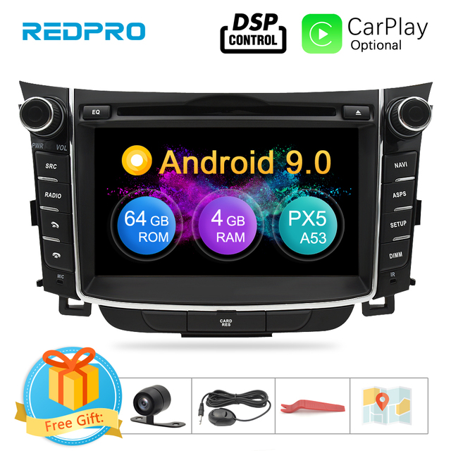 "7 ""IPS หน้าจอ Android 9.0 Car DVD เครื่องเล่นวิทยุสำหรับ Hyundai i30 Elantra GT 2012 2016 2 DIN ระบบนำทาง GPS สเตอริโอมัลติมีเดีย"