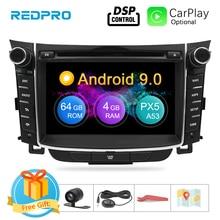 """7 """"lecteur de Radio DVD de voiture androïde 9.0 décran dips pour Hyundai i30 Elantra GT 2012 2016 2 multimédia stéréo de Navigation vidéo de GPS de Din"""