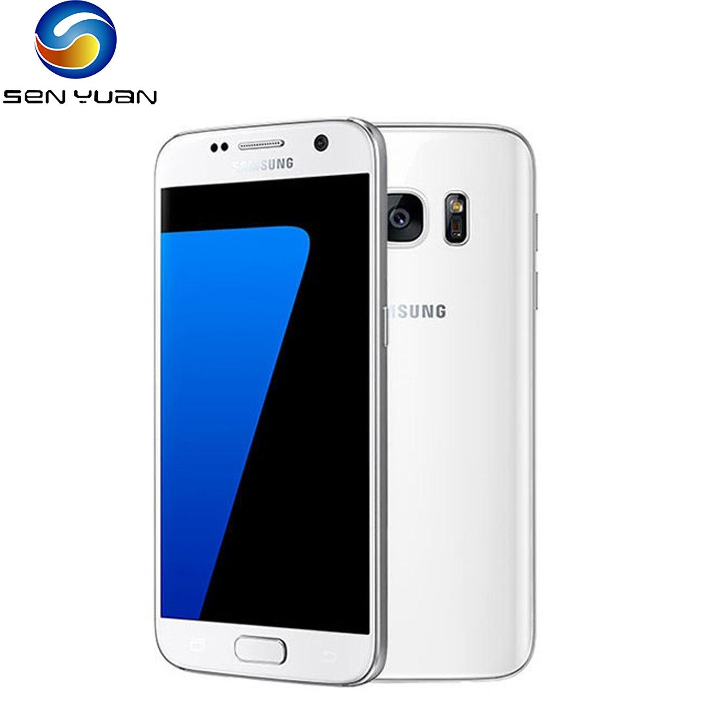 Оригинал, Samsung Galaxy S7 сотовый телефон PG930F/G930V 4 разблокированными аппарат не привязан к оператору сотовой связи мобильный телефон 5,1
