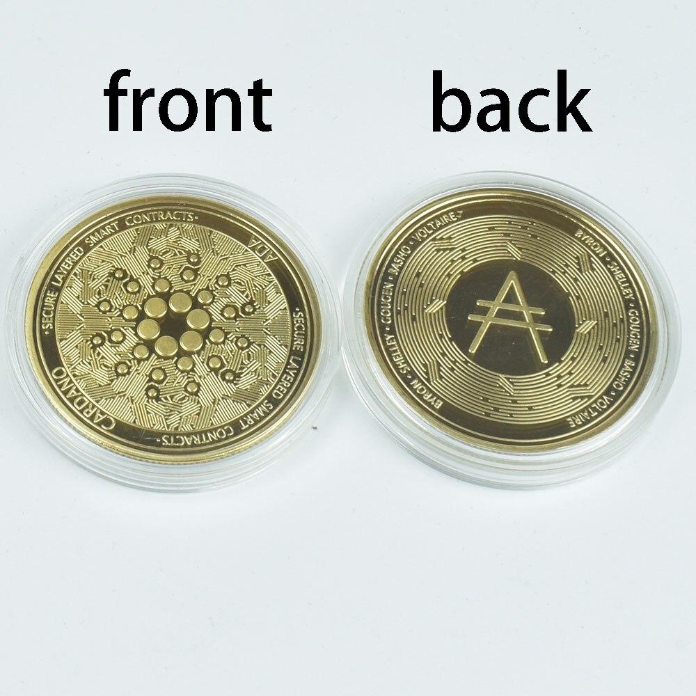 Горячая Распродажа Позолоченные Cardano ADA монета криптовалюта подборку металлические монеты
