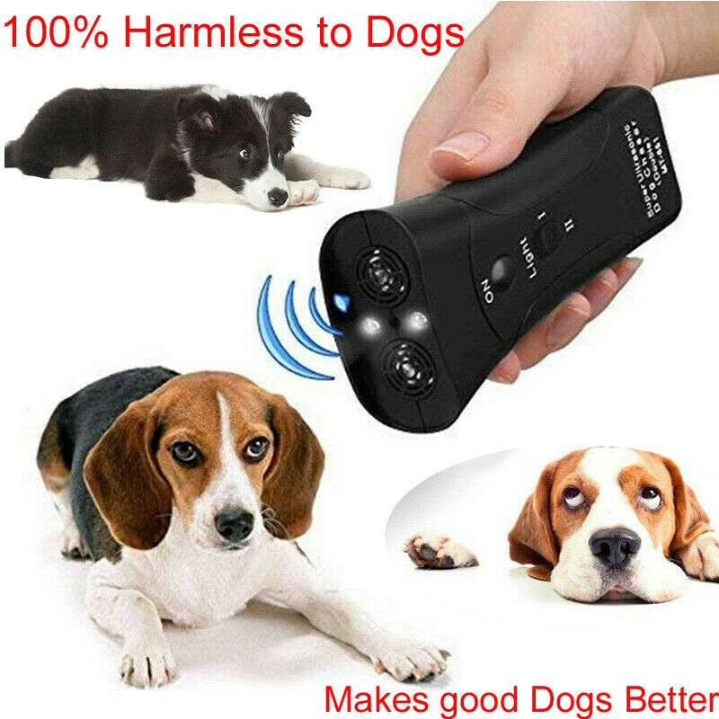 Ultrasonic Dog Chaser Aggressive Attack Dogs Repeller Pets Trainers LED Flashlight Useful Pet Supplies Dog Training Tools