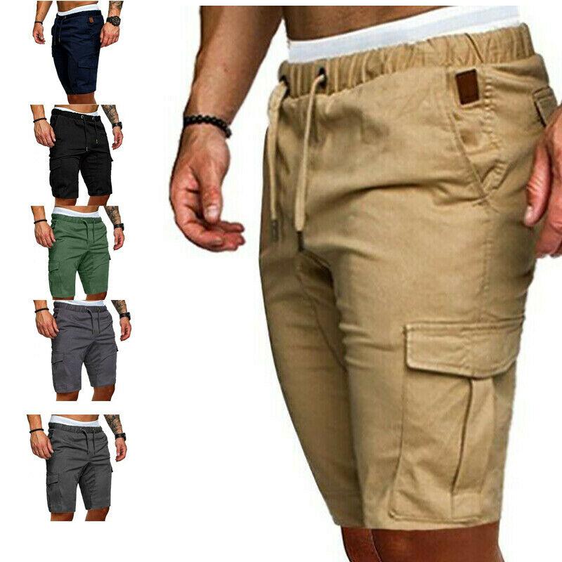 2020 HOT Selling Mens Cargo Shorts Casual Summer Work Half Pants Running Sport Jogging Sweatpants High Quality