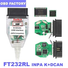CAN Obd2-Scanner Diagnostic Usb-Interface FT232RL Ediabas Cablefor BMW INPA K