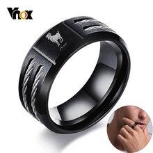 Кольцо vnox 12 для мужчин черное кольцо из нержавеющей стали