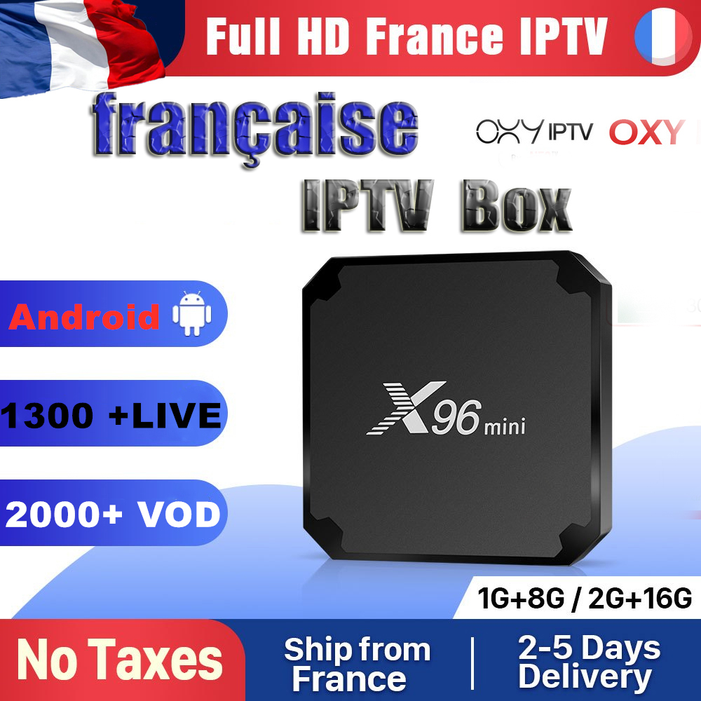 IPTV France OXY TV1 Year Code X96 Mini Android 7.1 TV BOX S905W X96Mini IPTV Belgium Netherlands Arabic France IPTV Subscription