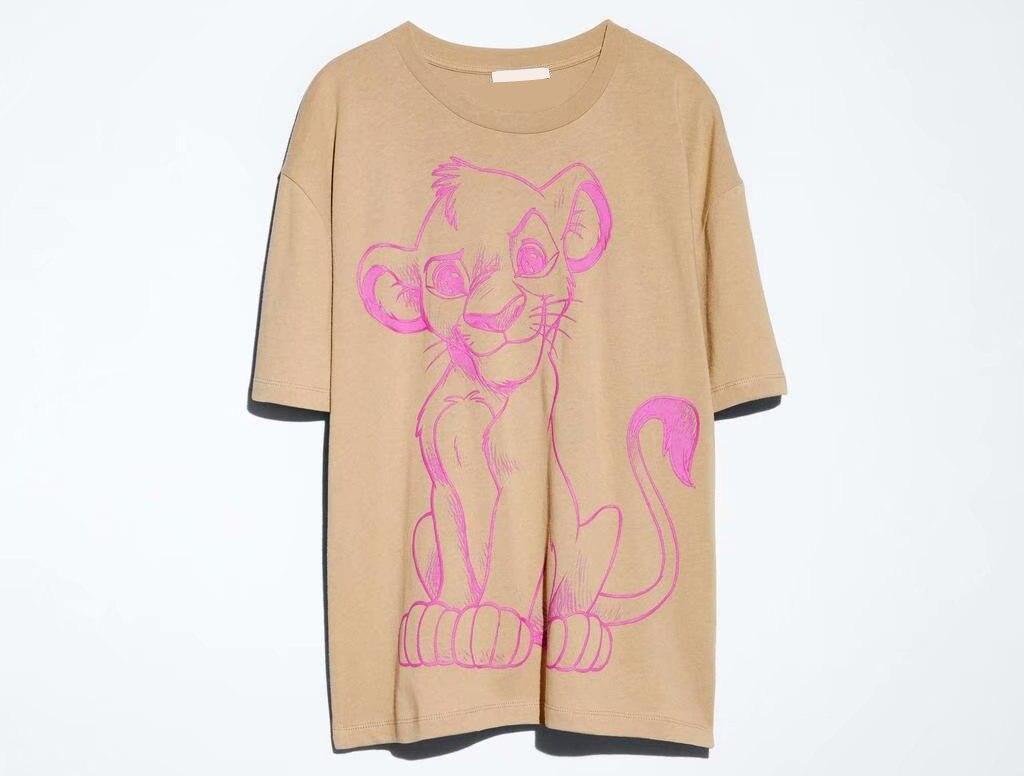 Hee783e5aa33e4e96870a0d1e8cfeddb7w Disney Family T-Shirt Fashion Winnie the Pooh Mickey Mouse Stitch Fairy Dumbo SIMBA Cartoon Print Women T-Shirt Cotton Tee s