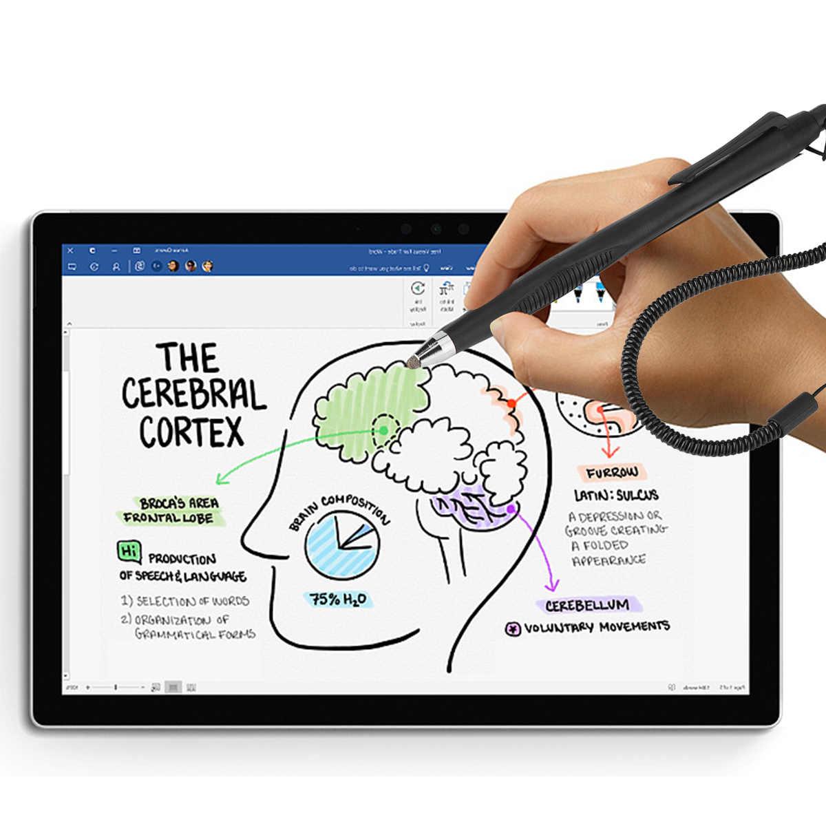 2 قطعة قلم ستايلس شاشة تعمل باللمس قلم ستايلس الكتابة أقلام الرسم ل هاتف لوحي الكمبيوتر لهواوي ماتي 9