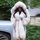 90CM Natural Fox Fur...