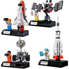 NEW ideas Movie Leoged StarWared Space Station Satellite Rocket Pilot Building Blocks creative children educational toy недорого