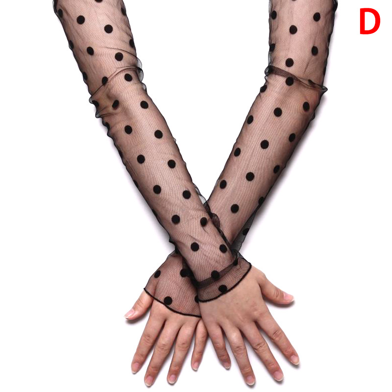 Hot SAFENH Women Summer Sun Protection Sleeves Mesh Lace UV Thin Long-sleeved Bike Breathable Cycling Gloves Driving Arm Sleeves
