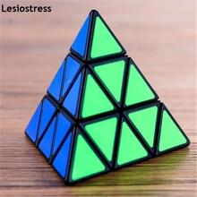 Lesiostress Original 3x3x3 피라미드 매직 큐브 피라미드 Cubo Magico 전문 퍼즐 교육 완구 어린이를위한