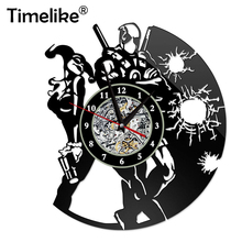 Vinyl Record Wall Clock Decor Creative Simple Modern Design Clocks Personality Retro Nostalgic Living Room 3D Watches