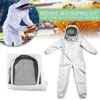 Full Body odzież pszczelarska profesjonalne pszczelarze ochrona pszczół kombinezon pszczelarski safety Veil Hat Dress All Body Equipment tanie i dobre opinie CN (pochodzenie)
