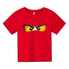 Summer Lego Ninja T-shirt Boys Baby Kids Clothes Boy Tops Short Sleeve T-shirt Anime 4-14 Old T-shirt Top Stitch Girls Clothes