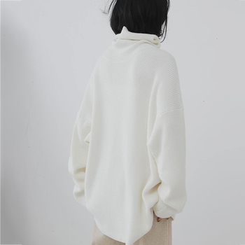 XUXI 2020 Fashion Women's Sweater Autumn Knitted Sweater Women's High Neck Long Sleeve Long Sleeve Sweater Loose FZ0414 6