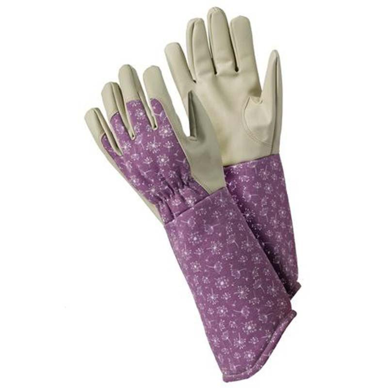 Luvas de jardinagem trabalho plantio trabalho doméstico para homens mulher prova de poda rosa com longo antebraço gauntlet