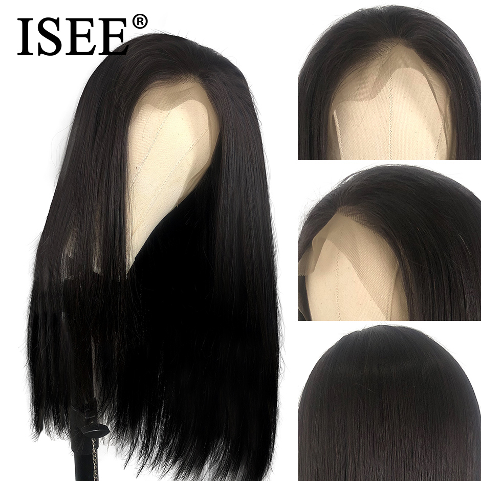 Image 3 - ISEE HAIR 360 Lace Frontal Wig 150% Density Straight Lace Frontal Human Hair Wigs Remy Brazilian Human Hair Wigs For Black Women-in Human Hair Lace Wigs from Hair Extensions & Wigs