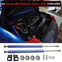 Osłona na maskę amortyzator dla Toyota MR2 Roadster Spyder W30 1999-2007 dla MR-S zmodyfikuj siłowniki pneumatyczne amortyzator