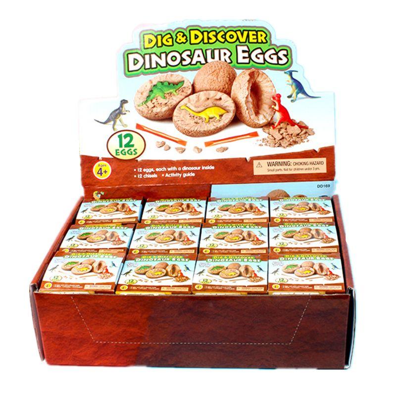 Игрушка-яйцо динозавр Eggs12 Dino, Обучающие игрушки STEM для детей, подарок для вечеривечерние, сувениры для детей, приключения к вырыву тайны 12
