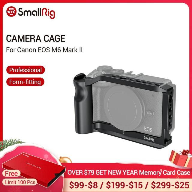 Cage de caméra petit modèle M6 pour Canon EOS M6 Mark II Dslr Cage de montage avec poignée intégrée/support de chaussure froide Vlog Rig  2515