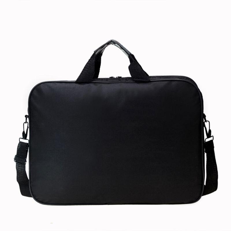Briefcase Bag 15.6 Inch Laptop Messenger Bag Black Business Office Bag Computer Handbags Simple Shoulder Bag for Men Women 4