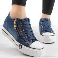 Модные женские кроссовки; Повседневная обувь из вулканизированной кожи; tenis feminino; удобная женская текстильная обувь; женские кроссовки на шнуровке; zapatos mujer;